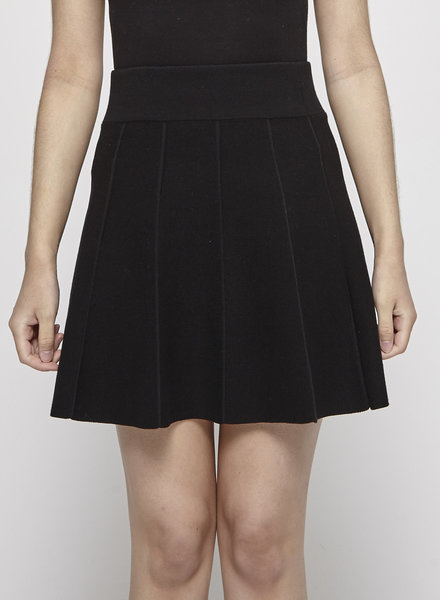 Club Monaco BLACK A-LINE KNITTED SKIRT