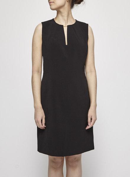 MICHAEL Michael Kors OPEN COLLAR BLACK DRESS