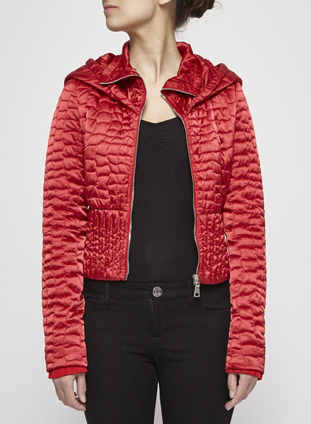 Prada RED QUILTED JACKET