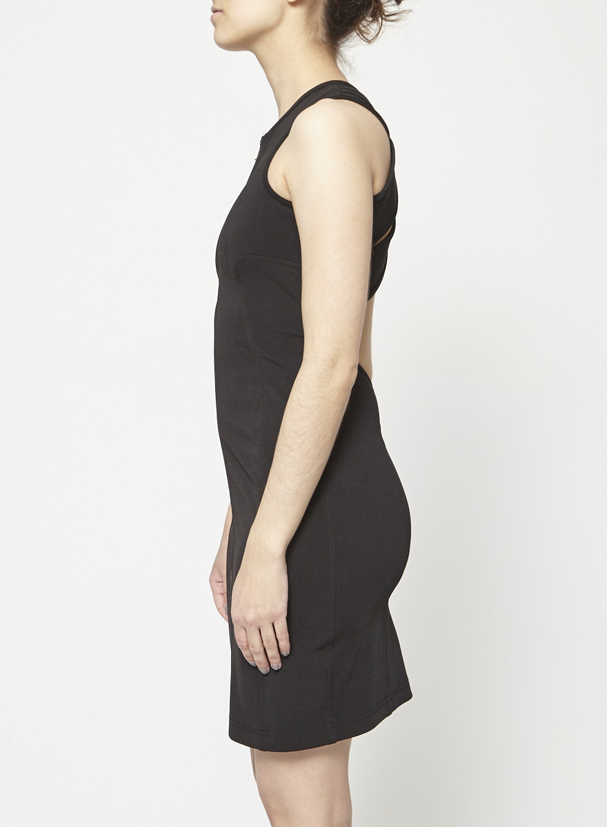 Alexander Wang Black Sleeveless dress with lattice back
