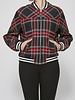 Maje Plaid Bomber Jacket