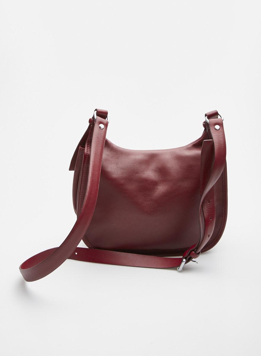 Longchamp Burgundy Leather Crossbody Bag