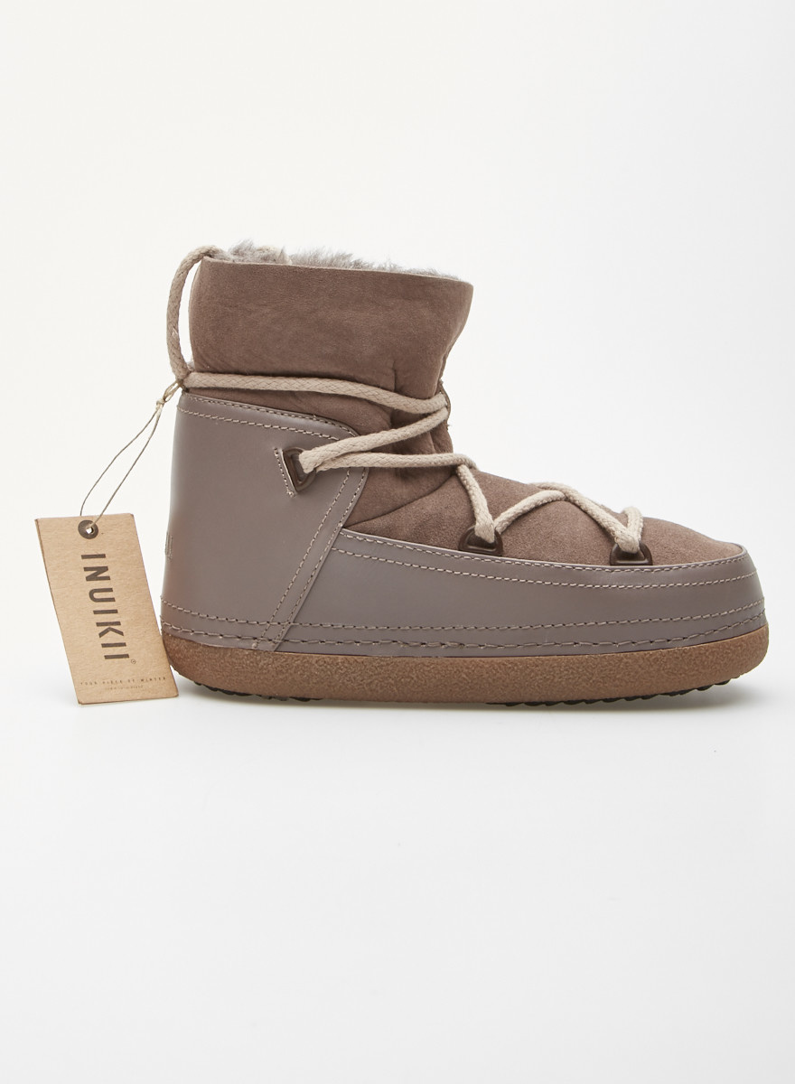 Inuikii Brown Leather and Suede Winter Boots - New