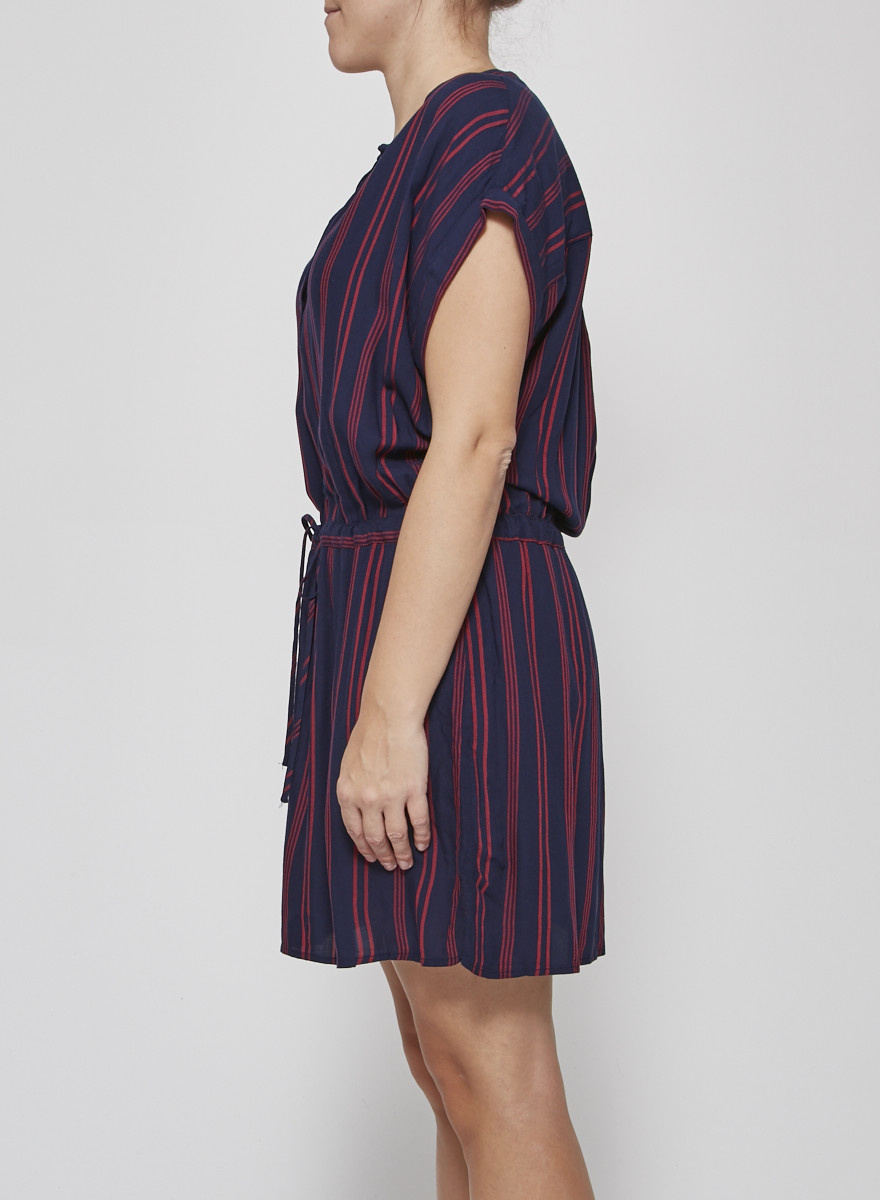 Rails BLUE & RED STRIPE EMMA DRESS - NEW WITH TAGS