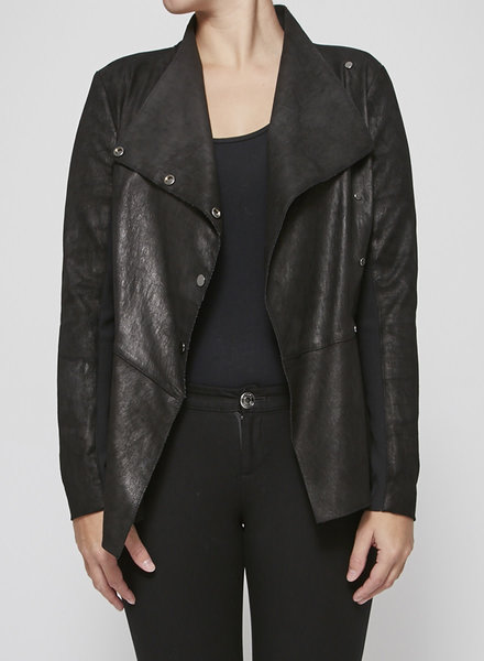 Veronica Beard SALE (WAS $280) - BLACK SUEDE-EFFECT JACKET