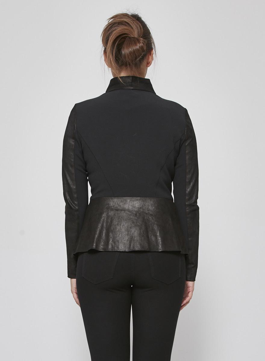 Veronica Beard Black Suede-Effect Jacket