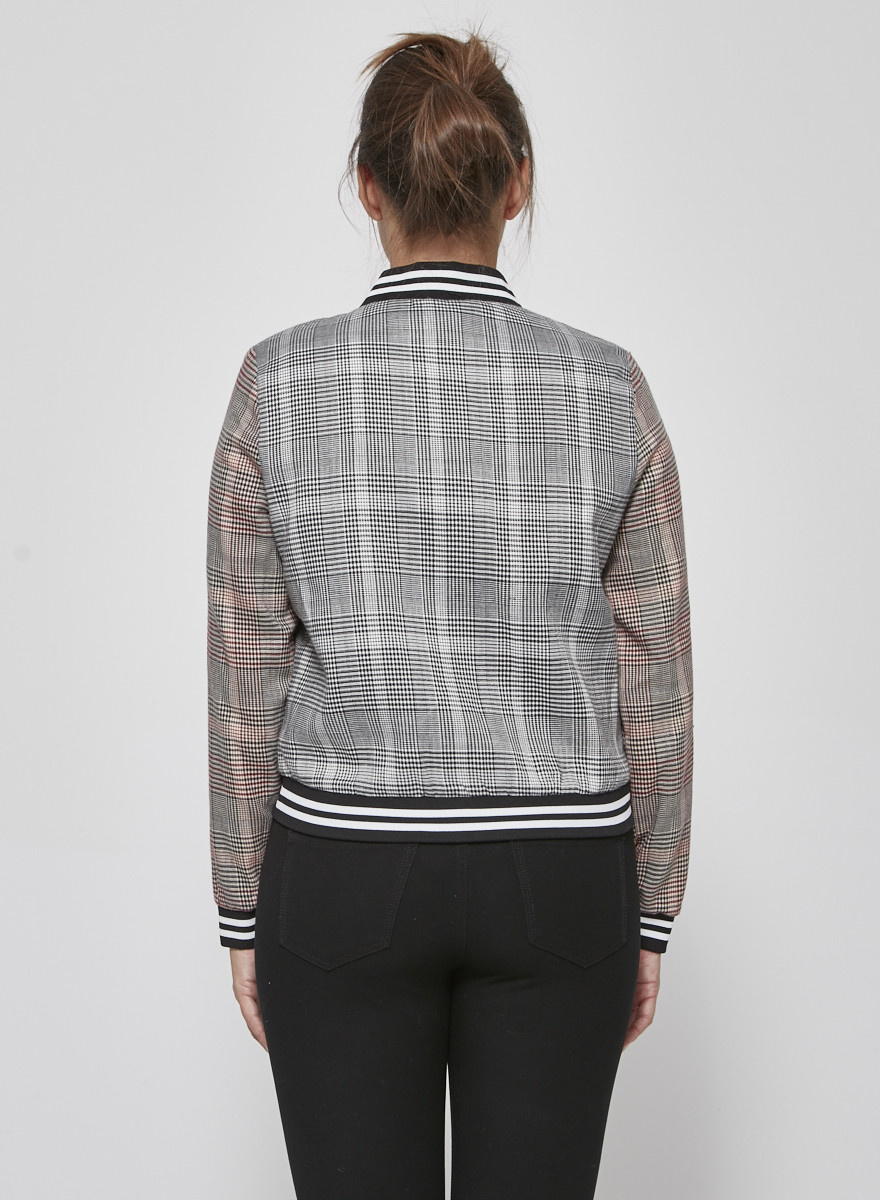 SEN Checked Bomber Jacket - New with Tags