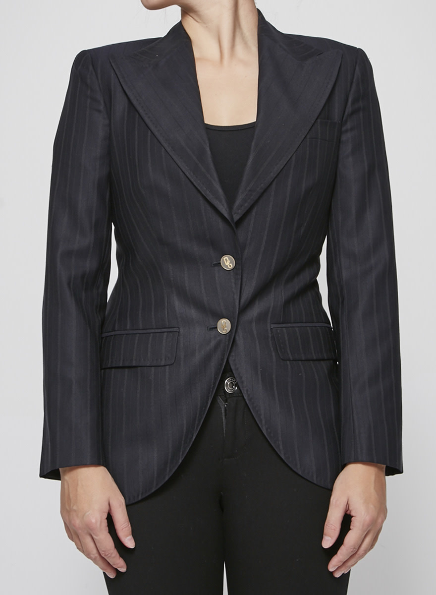 Dolce & Gabbana Dark Blue Fine Stripe Jacket