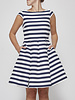 Kate Spade White and Blue Striped Dress