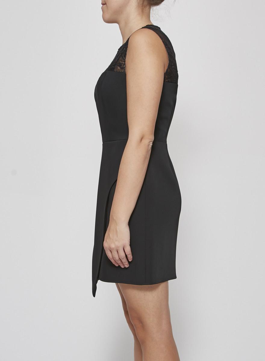 BCBG Max Azria Robe noire à empiècement en dentelle - Neuve