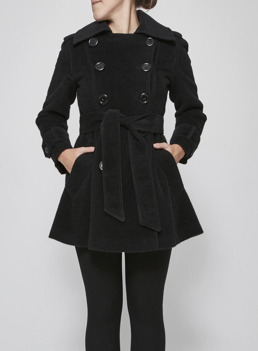 M Siamo Manteau en laine noir