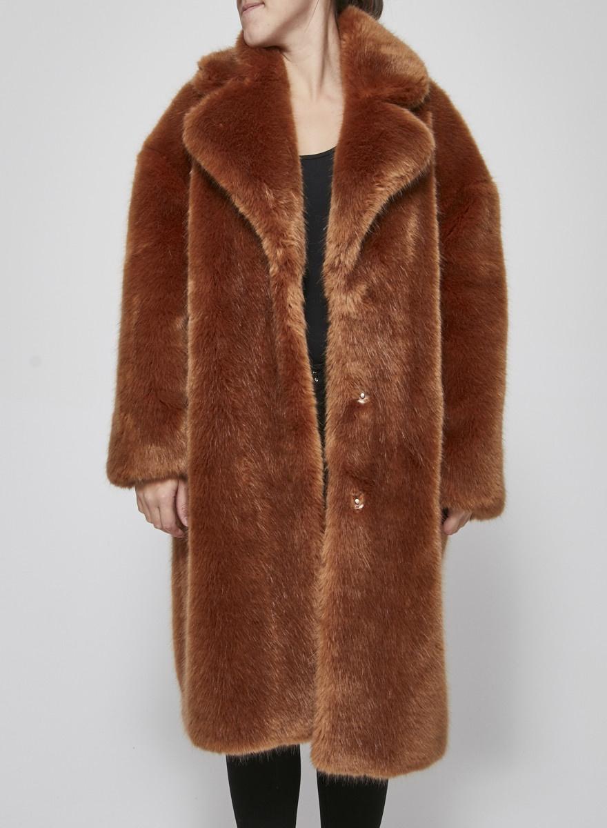 jakke Manteau en fausse fourrure caramel - Neuf avec étiquettes