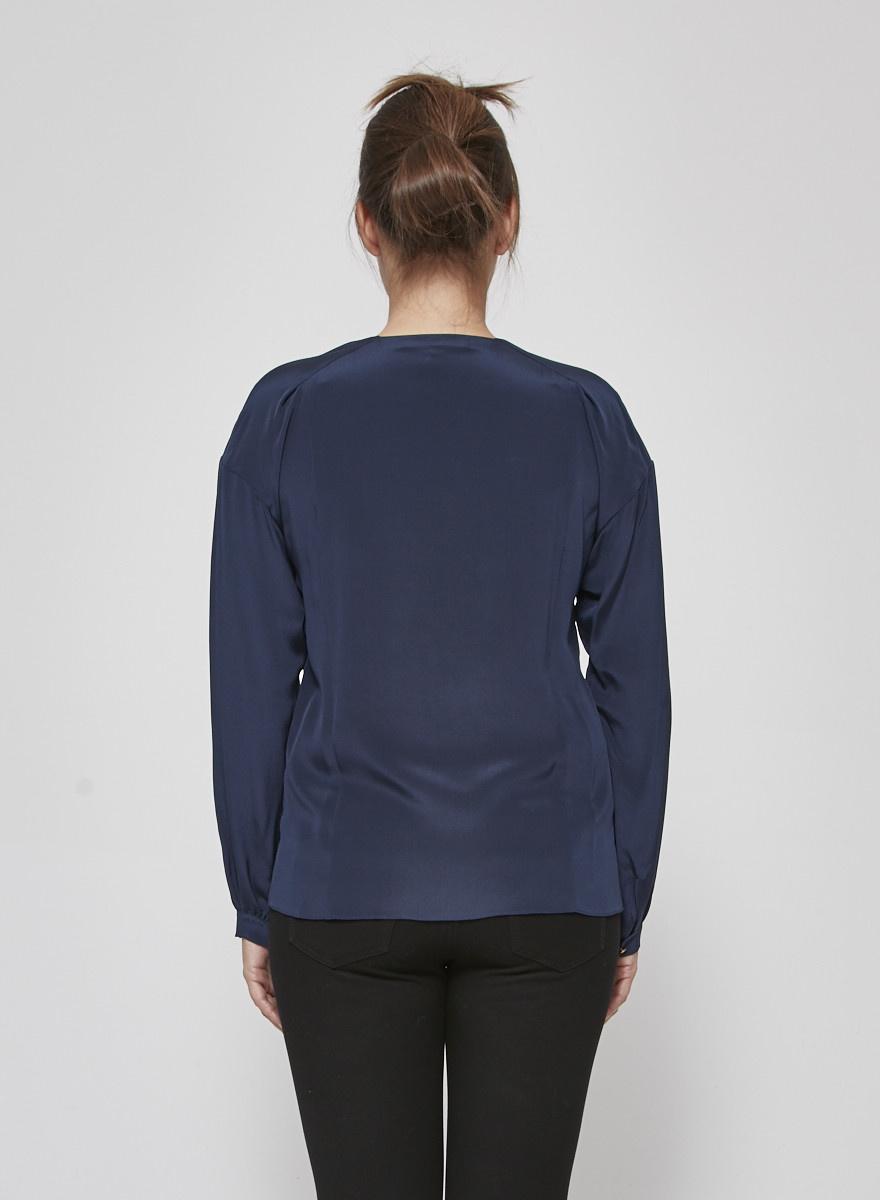 Vanessa Bruno Navy Silk Shirt