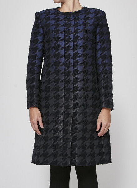 Ports 1961 SALE (WAS $540) - NAVY AND BLACK HOUNDSTOOTH COAT