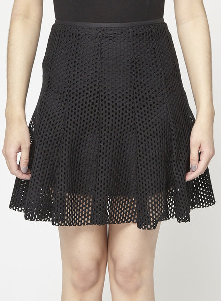 Sandro NEW PRICE (WAS $95) - PERFORATED BLACK SKIRT