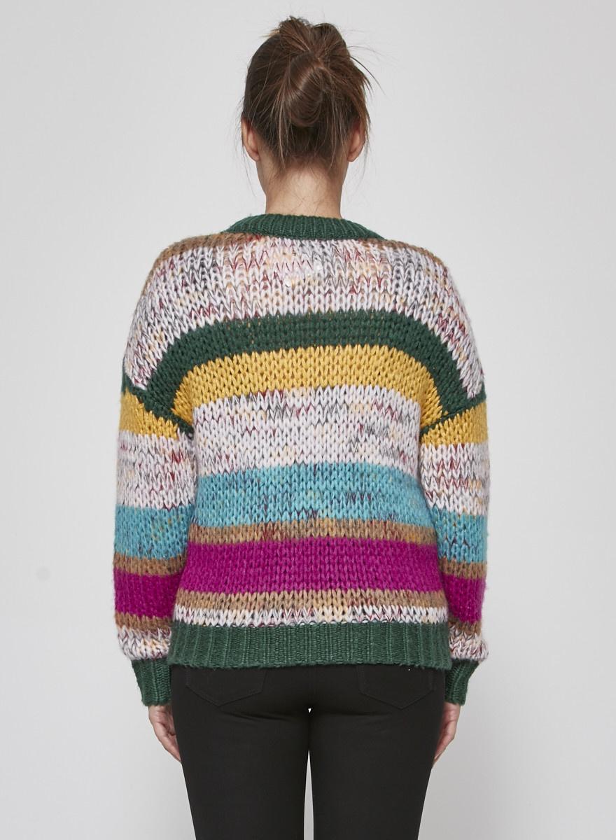 Heartloom Pull en tricot ligné multicolore - Neuf avec étiquettes