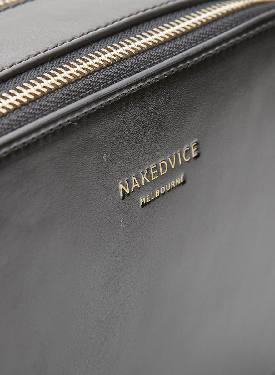 nakedvice Sac en cuir noir - Neuf