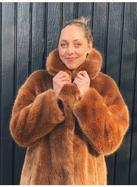 jakke CHESNUT FAUX FUR JACKET - NEW WITH TAGS