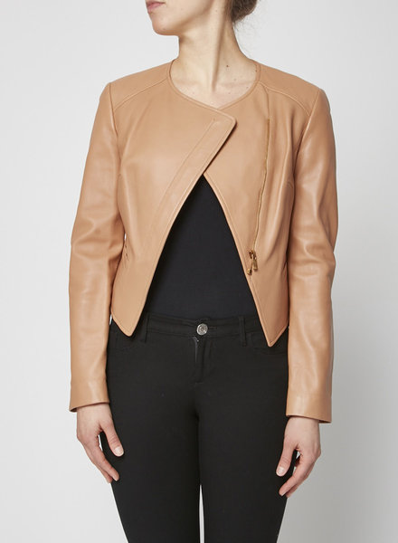 Michael Kors BUTTERSCOTCH LEATHER JACKET