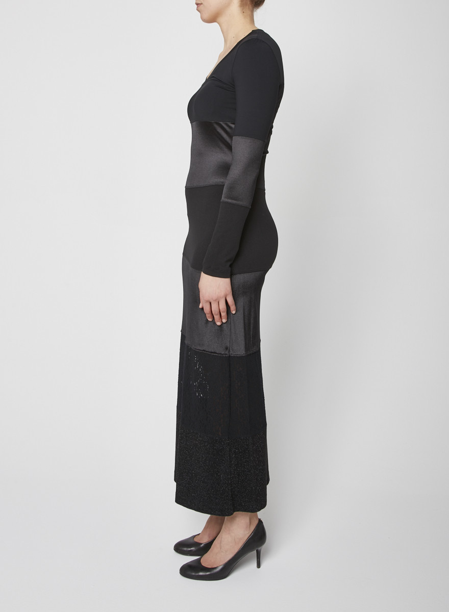 Moschino Jeans NEW PRICE (WAS $160) - BLACK PATCHWORK MAXI DRESS