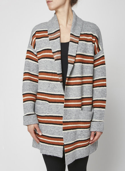 Heartloom STRIPED CARDIGAN WITH POCKETS - NEW WITH TAGS
