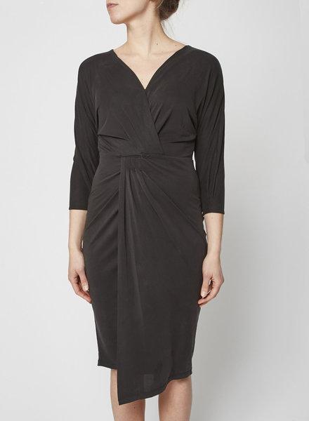 Heartloom BLACK JERSEY WRAP DRESS - NEW