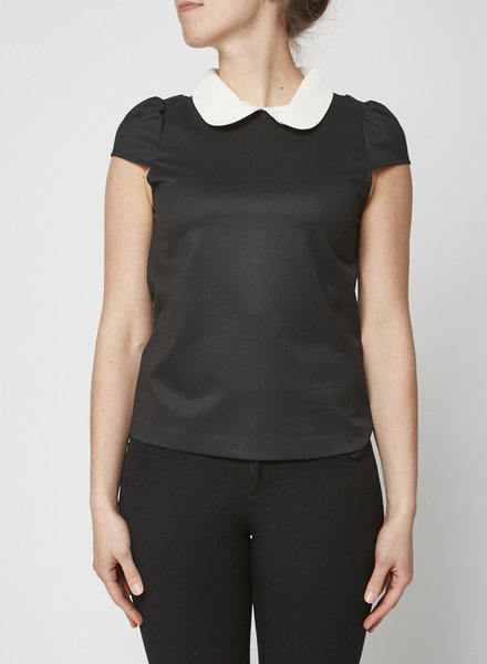 Alice + Olivia BLACK AND WHITE PETER PAN COLLAR TOP - NEW