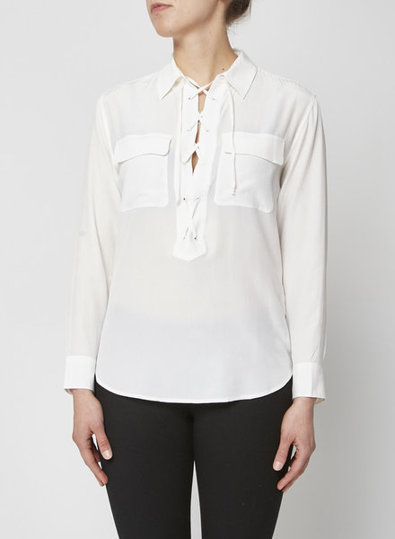 Equipment WHITE BLOUSE WITH LACED COLLAR