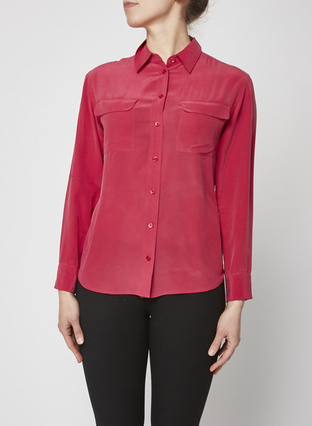 Equipment RASPBERRY SILK BLOUSE