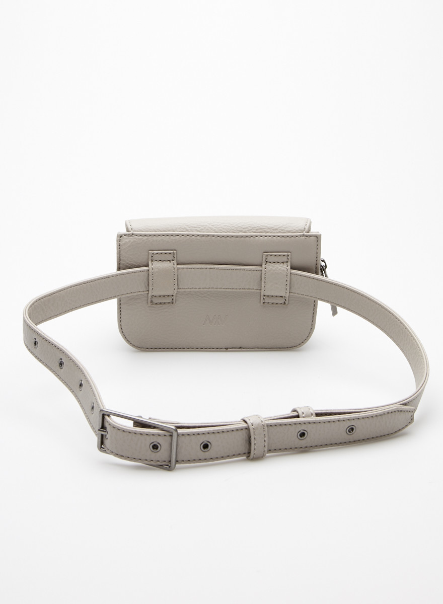 Matt & Nat Grey Vegan Leather Waist Bag