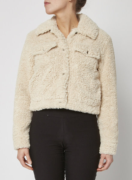 MICHAEL Michael Kors FAUX SHERPA TRUCKER JACKET - NEW WITH TAGS