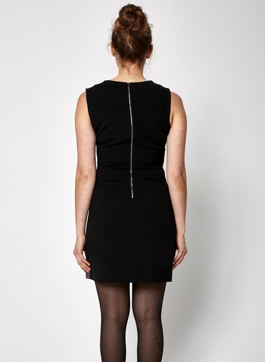 Diane von Furstenberg Robe métallisée noir et rose
