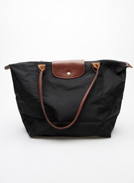 """Longchamp BLACK CANVAS """"LE PLIAGE"""" BAG"""