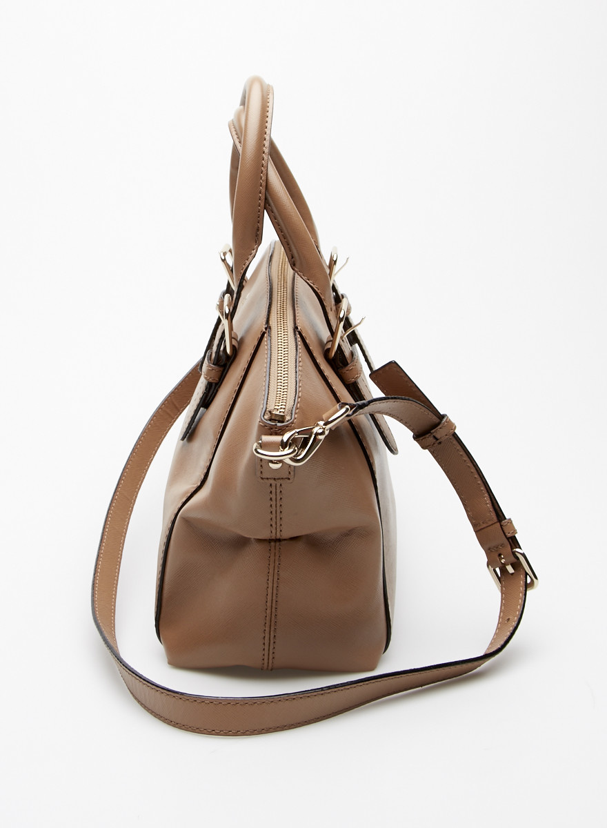 Kate Spade Brown Leather Bag with Removable Strap