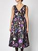 Cynthia Rowley Flower-Print Midi Dress