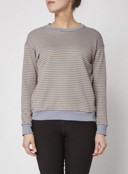 Heartloom SWEATSHIRT WITH GOLD AND GREY STRIPES