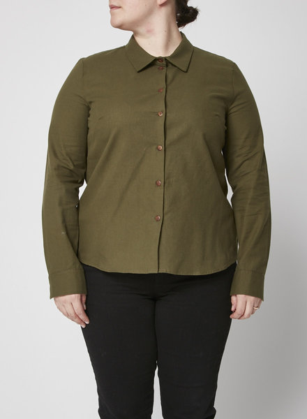 Atelier B GREEN COTTON SHIRT - NEW WITH TAGS - AVAILABLE IN S/L/XL