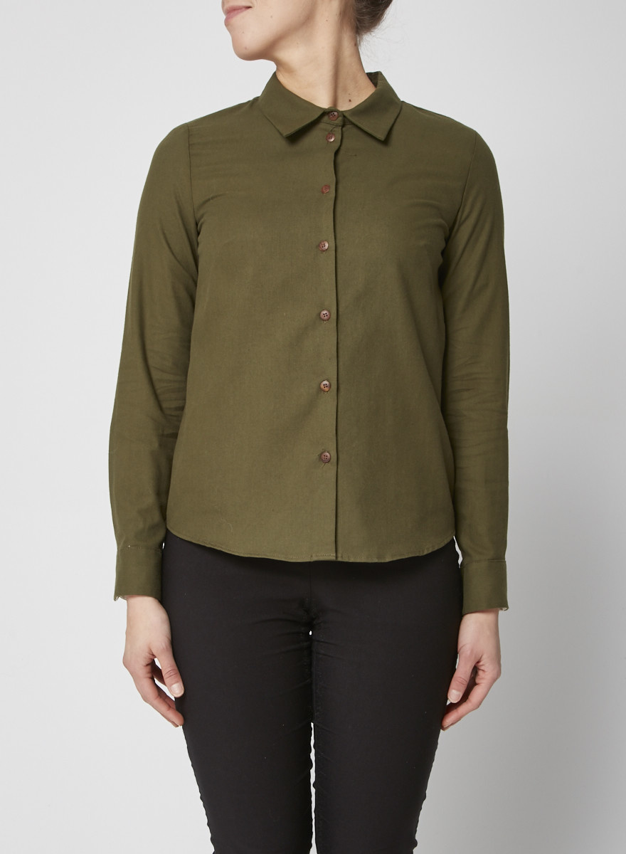 Atelier B Green cotton shirt - New with Tags