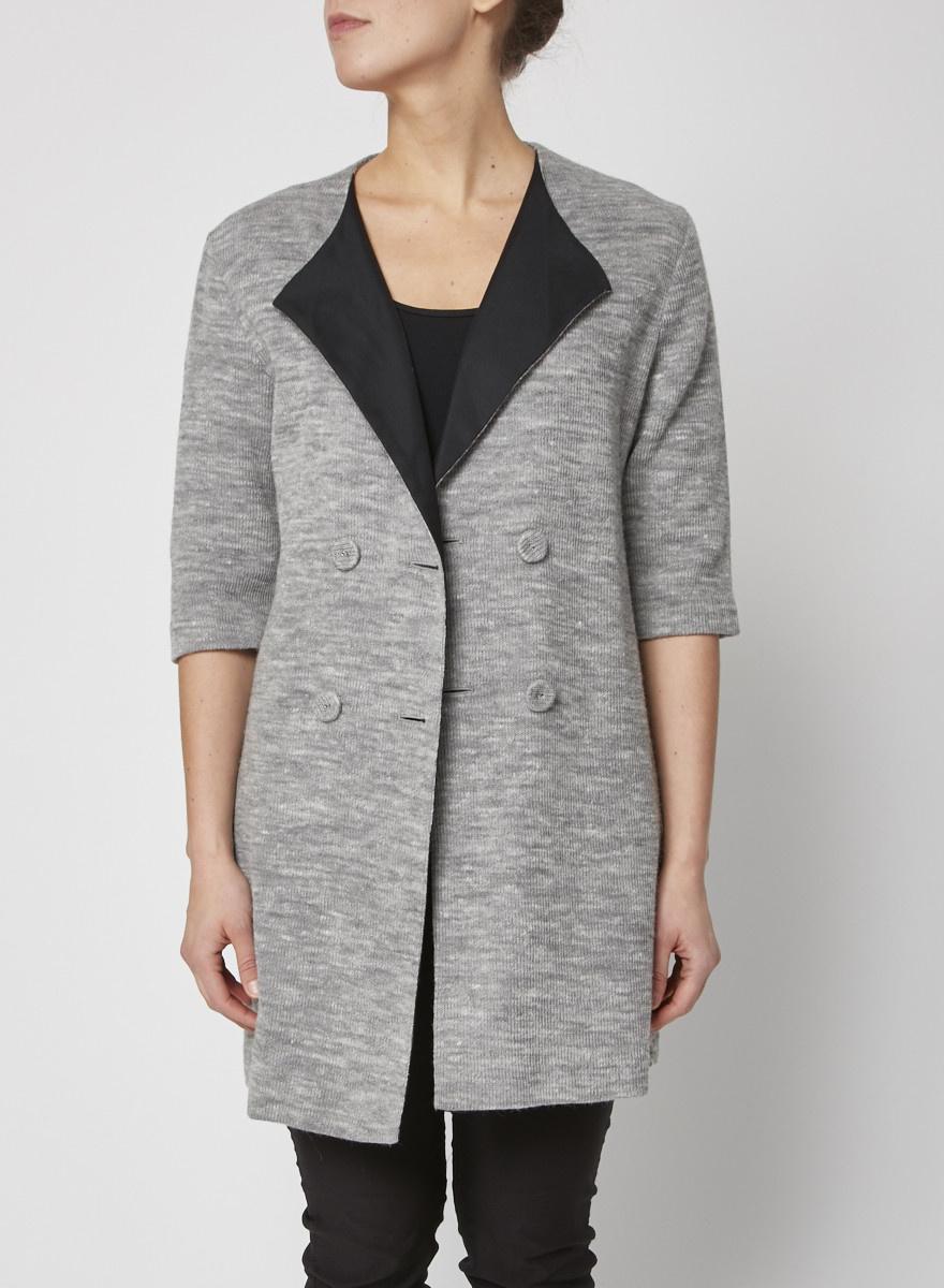Loeffler Randall Grey short sleeves vest