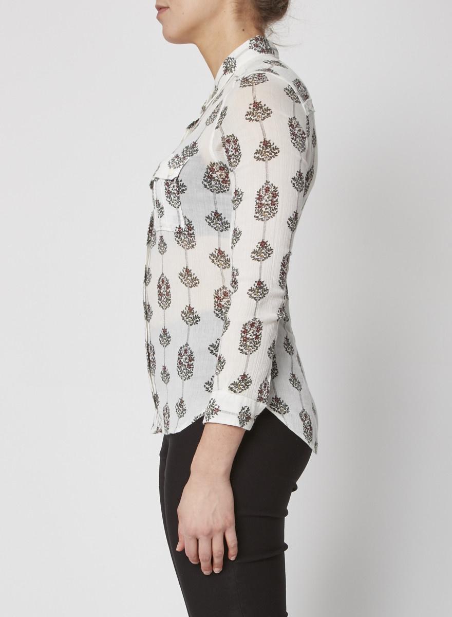 Isabel Marant Printed cotton gauze blouse