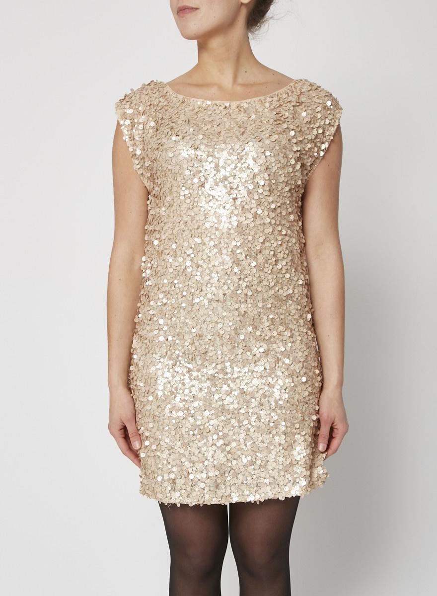 Alice + Olivia Silk Sequined Dress