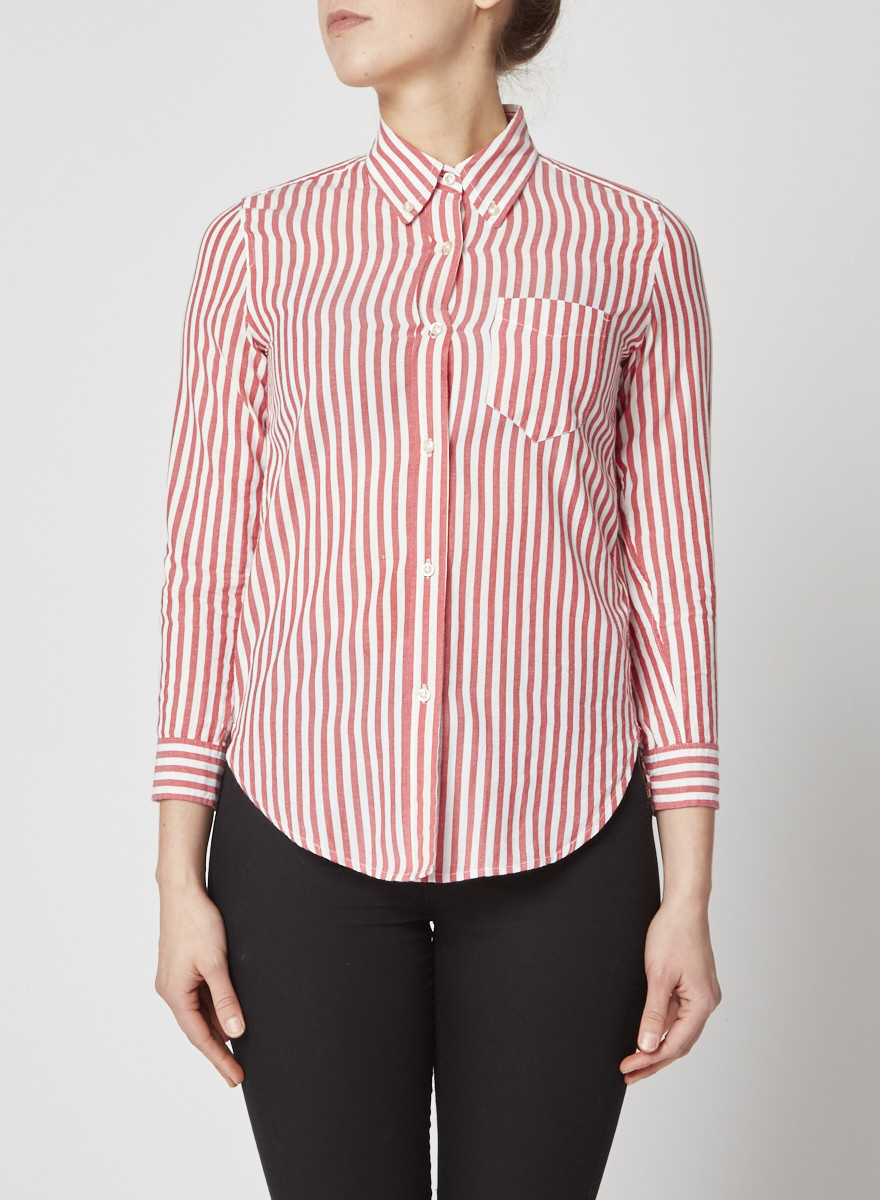 Isabel Marant White and Red Button up Shirt