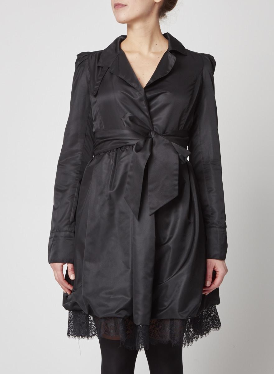 Diane von Furstenberg Silk Wrap Dress with Lace Hem