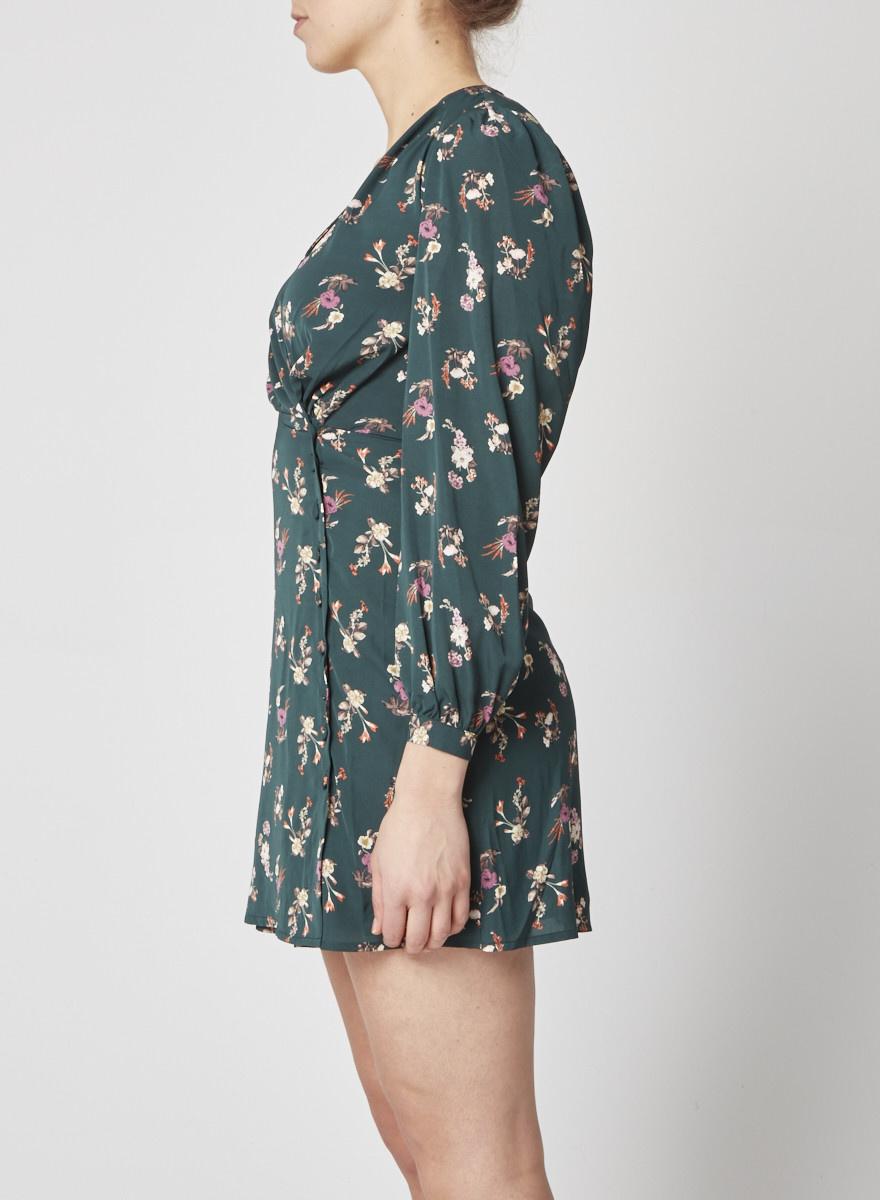 Heartloom Robe cache coeur verte à motif floral