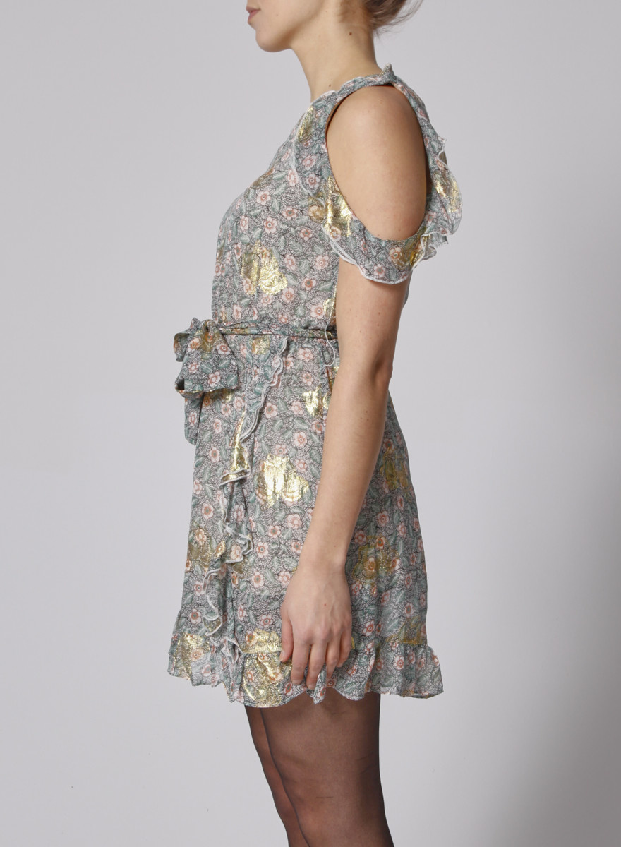 The Kooples FLOWER-PRINT SILK DRESS