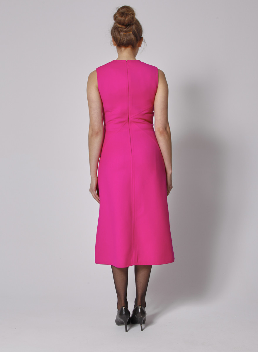 Courrèges Pink Wool Midi Dress - New with Tags