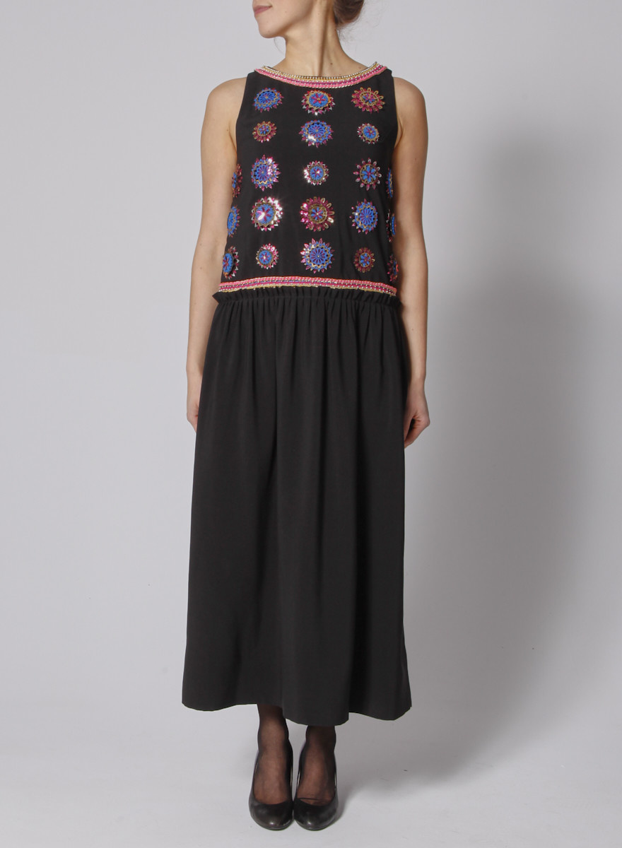 Manish Arora Black embroidered dress