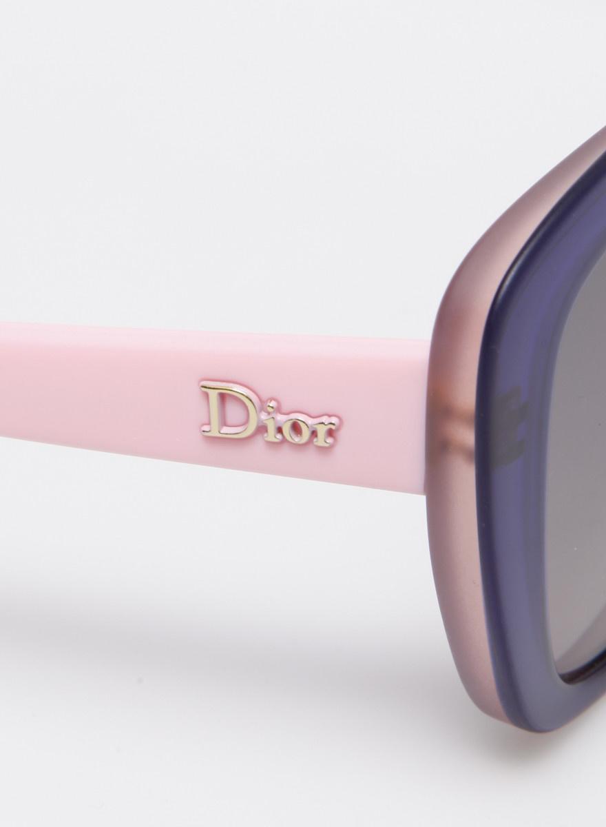 Dior Lunettes de soleil bleu et rose