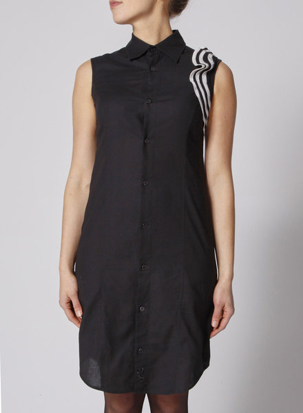 Y-3 by Yohji Yamamoto ADIDAS BLACK SLEEVELESS DRESS