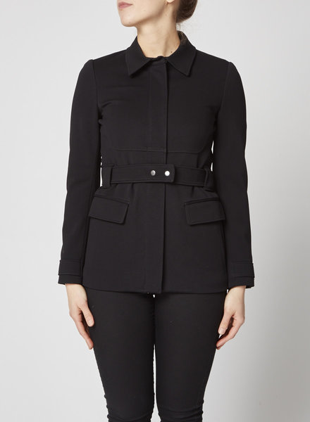Theory BLACK BELTED COAT